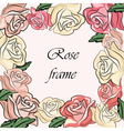 Yellow Rose flower frame vector image