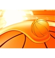 Sports Background Basketball vector image vector image