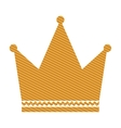 gold crown icon vector image