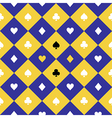 Card Suits Yellow Blue Chess Board Diamond vector image