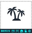 Palms icon flat vector image