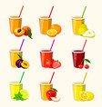 set with juice vector image