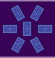 tarot card spread reverse side vector image