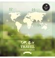 blurred natural landscape Map on blurry background vector image