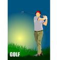 al 1004 golf 01 vector image vector image