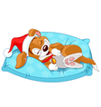 Cute Christmas doggy vector image vector image