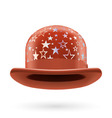 Brown starred bowler hat vector image vector image