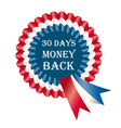 30 days money back guarantee label vector image vector image