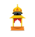 Indian Temple with arch Cartoon vector image