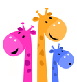 Colorful giraffe family vector image