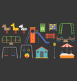 big set of playground equipment vector image