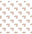 Dog prints pattern cartoon style vector image