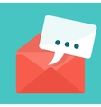 envelope with message vector image