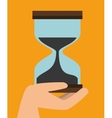 fast delivery concept sand clock time icon graphic vector image