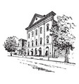 fords theatre is in washington vintage engraving vector image