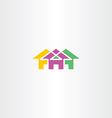 neighborhood house icon logo symbol vector image