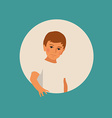boy in a t-shirt vector image