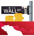 wall street bear city investing vector image