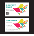 Business Visit Card with Abstract Colored Petals vector image
