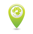 money exchange icon green map pointer vector image vector image