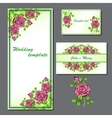 set with wedding template vector image