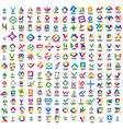 a very large set of abstract logos vector image