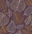 seamless pattern with leaves - vector image vector image