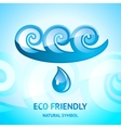 water natural symbol vector image vector image
