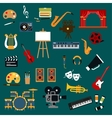 Art music cinema and theater icons vector image vector image