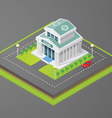 isometric bank vector image