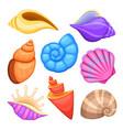 ocean cockleshells cartoon sea shells vector image