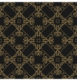 pattern gold geometric shapes on a black vector image