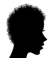 Profile of a woman with curly hair vector image