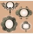 vintage frames set vector image