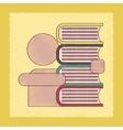 flat shading style icon schoolboy books vector image