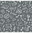 Seamless pattern on the school theme a blackboard vector image