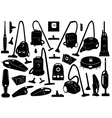 Set of different vacuum cleaners vector image vector image