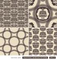 Vintage ornamental brown backgrounds vector image vector image