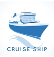 cruise ship label vector image