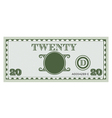 Twenty money bill image vector image vector image