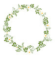 The floral concept of circle frame vector image