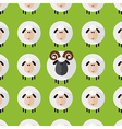 Cute Green Sheep and Ram Wallpaper vector image