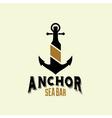 anchor sea bar vector image