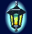 halftone night lantern vector image