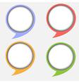 Paper round bubble vector image