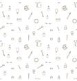 Seamless pattern of make up set vector image
