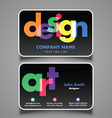 artists business card 1008 vector image