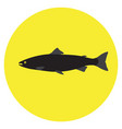 isolated silhouette of a fish vector image