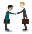 two businessmen shaking hand vector image