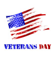 american damaged flag and veterans day celebration vector image